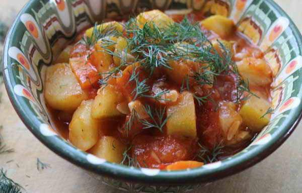 Рагу с картошкой и кабачками фото